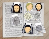 The Inner Circle A Court of Mist and Fury Magnetic Bookmarks Set - Mor, Amren, Azriel, and Cassian Clips