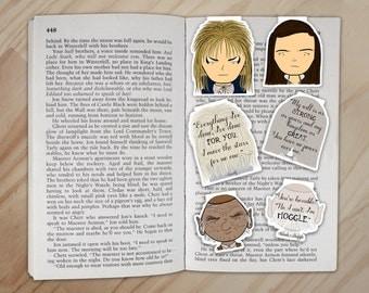 Labyrinth Magnetic Bookmarks Set - Jareth, Sarah, and Hoggle Clips