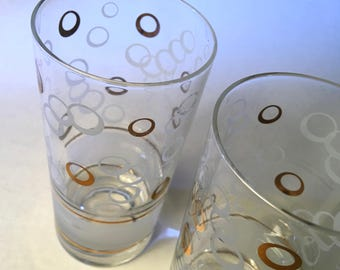 One set of two Fred Press tumblers with rising bubbles by Fred Press