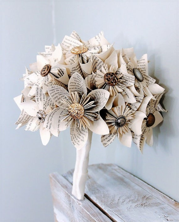 Origami Wedding Flowers: Paper Wedding Bouquet Alternative Bouquet Kusudama Bouquet