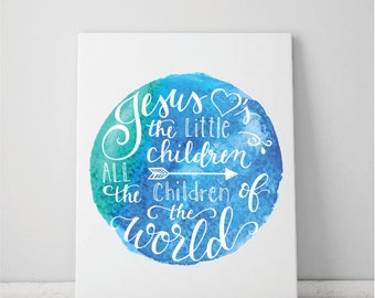 Jesus Loves The Little Children World Art Print