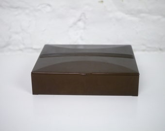 Bakelite Box Olive Green with Satin Lining