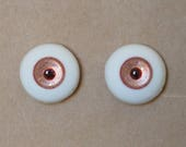 18mm Moonteahouse (Mth) Eyes - Handmade Pink / Copper Resin Eyes for BJD, ABJD and Dolls [17053]
