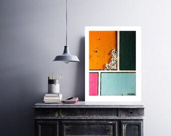 Spots.  Abstract Dalmatian dog fine art giclee print