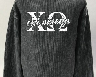 Chi Omega Corded Sweatshirt