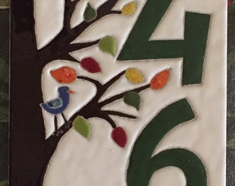 Whimsical Tree of Life Address Tile