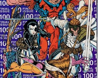 New Mutants #100,  April 1991 Issue - Marvel Comics - Grade VF