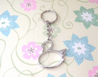 Silver Swan Keychain - Ready to Ship