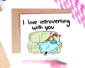 Cute Valentine's Day Card, Funny Valentine Card, Valentine's Day Cards, Cute Husband Card, Boyfriend Card