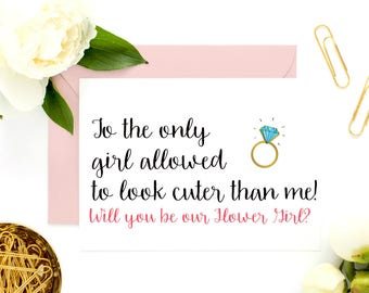 Cute Bridesmaid Cards, Flower Girl Proposal Card, Asking Cards, Bridesmaid Proposal, Be My Bridesmaid, Bridesmaid Cards