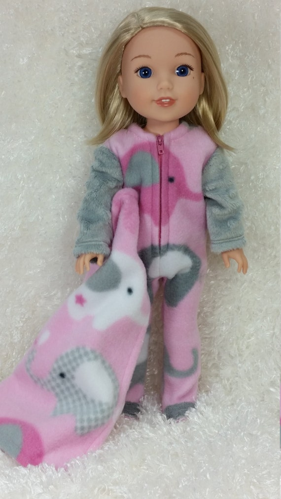 Wellie Wisher Footed Pajamas With Blanket American Made To