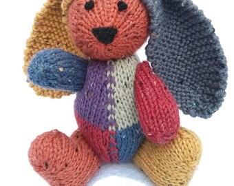 Mark the Hand Knit Bunny, soft toy, Handmade, Stuffed Animal, Stuffed Toy, plush bunny, cute bunny, bunny stuffie, bunny plushie, Easter