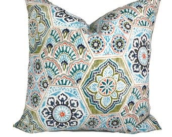 Outdoor cushions, Patio cushions, Outdoor pillows, Outdoor cushion covers, Blue outdoor pillow, Outdoor lumbar pillow, 6 sizes available