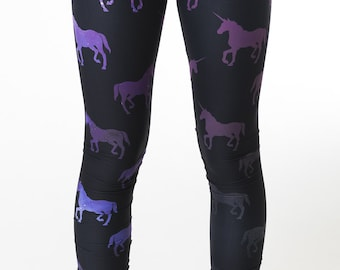 Unicorn Galaxy Leggings, space leggings, unicorn leggings, space print, unicorn print