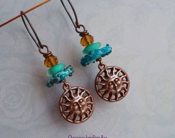 Copper Sunshine Earrings