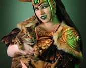 Signed Cosplay print of 'Lady Loki' with cat cosplay by PretzlCosplay A4 size