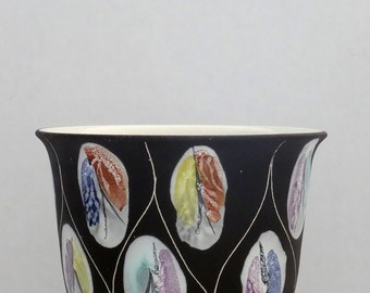 Bay Keramik Mid Century Bodo Mans Handpainted West German Flower Pot