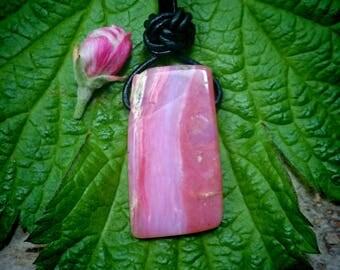 Gemstone unique leather-node (Andean opal)
