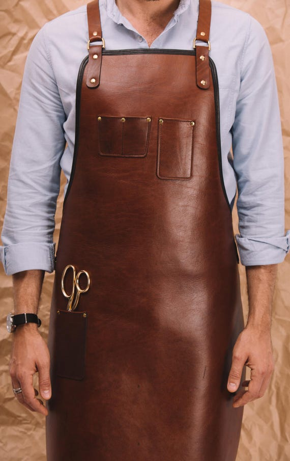 Heavy Duty Aprons : Heavy duty leather apron tan custom