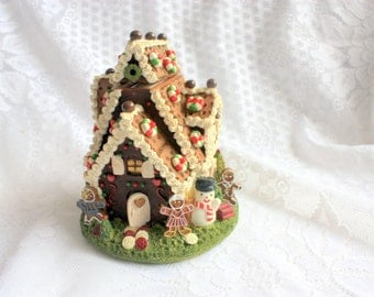 Hand Painted Cherison Bank, Gingerbread House Bank, Cherison collectible, Christmas bank, Gingerbread Bank,