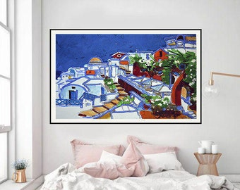 Interior Artwork, Cityscape, Cityscape painting, Cityscape Art, Painting Urban Art, Modern Art, Original watercolor, original painting