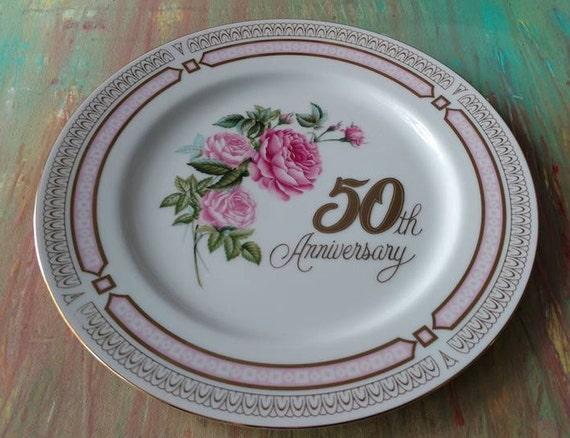 11 Wedding Anniversary Gift: Vintage 50th Anniversary Plate 11 / Wedding Celebration Gift
