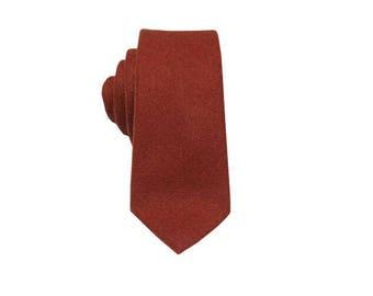 Orange Wool Tie.