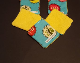 Handmade Face Cleaning Cloth Flannel/Microfiber Set of 5 Reusable