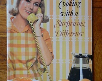 Awesome Retro 60's Cooking With A Surprising Difference Cookbook Soft Cover 1966 Carnation Evaporated Milk