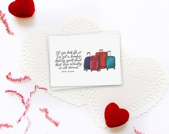 love is all around love actually greeting card // valentine's day card // galentine's card // greeting card friend