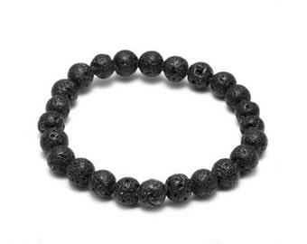 Lava Bead Bracelet - Unisex Bracelet - Lava Stone Bracelet - Beaded Bracelet - Beaded Jewelry - Valentines Day Gifts - Gifts Under 10