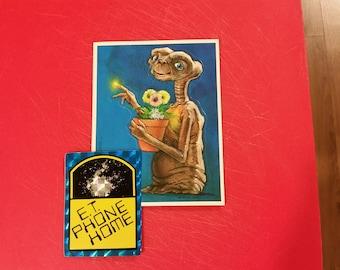 ET stickers, Vintage ET movie stickers, ET collectables ,