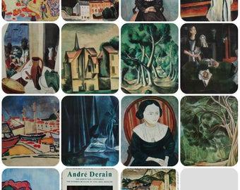 Andre Derain - Set of 13 Vintage Soviet Postcards, 1981. Aurora Art Publ, Leningrad. Fine Art Print Retro Fauvism