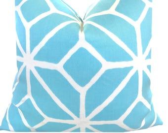 Trina Turk Outdoor Pillow ONE Decorative  Pillow Cover Outdoor Pillow  Schumacher Trina Turk Trellis Aqua Pool Pillow