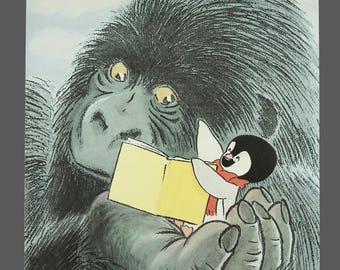 "Vintage L'ecole Des Loisirs French Poster ""The Leisure School"" Nursery Decor Children Art 16.5 x 23.5"