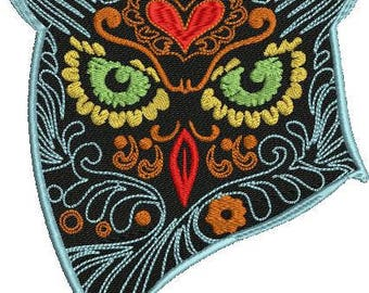 sugar owl machine embroidery design