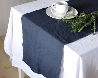 Handmade Linen Table Runner | Charcoal Grey | Classic Table Runners | Hand made Of Soft Natural Linen | Table set |Table Decoration |