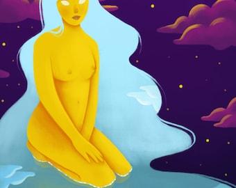 Sky Goddess Print