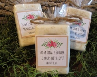Bridal Shower Favor Personalized Rustic Baby Shower Favor Organic Soap Favor Bridal Shower Favor Soap Floral Soap Baby Shower Favor Floral