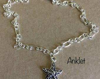 Starfish Charm Anklet Bracelet