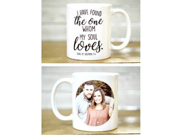 Bridal Shower Gift, Engagement Gift; Bride and groom, Mugs for brides, Couples gifts,  I have found the one whom my soul loves