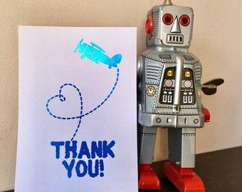 Aeroplane Acrobatics Thank You Postcard - A6 - Foiled - Customer Card - Business Appreciation