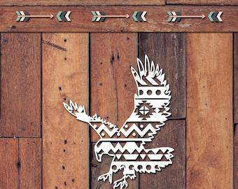 Aztec Eagle Decal | Yeti Decal | Yeti Sticker | Tumbler Decal | Car Decal | Vinyl Decal