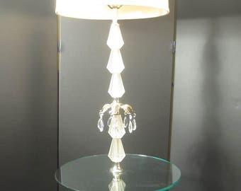 Vintage Lucite Hollywood Regency Floor Lamp Table
