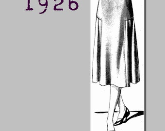 Lady's Yoked Skirt - Vintage Reproduction PDF Pattern - 1920's - made from original 1926 pattern - 35 inch waist