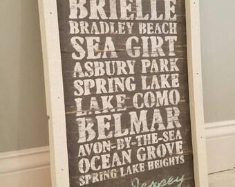 Beach Town Sign, Rustic Beach Town Sign, Beach House, Lake House, Wall Decor, Rustic, Beach Sign, Jersey Shore, Home Decor, Beach, Nautical