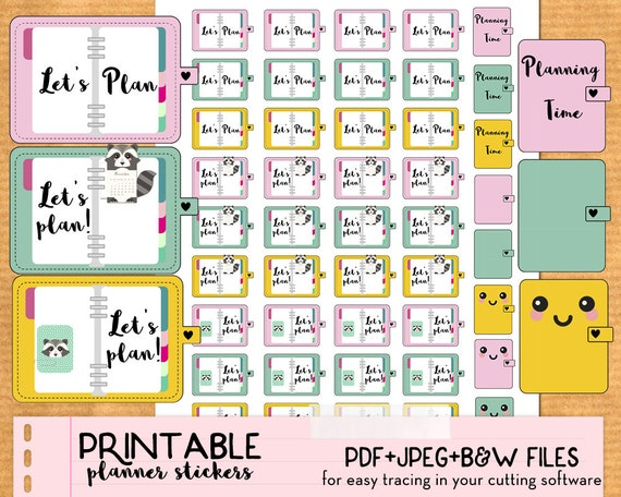 Influential image with planner stickers printable