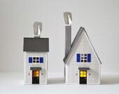 Paper Cut Houses - Paper cut kit - Winter houses - Paper cut - DIY paper cut - Christmas present