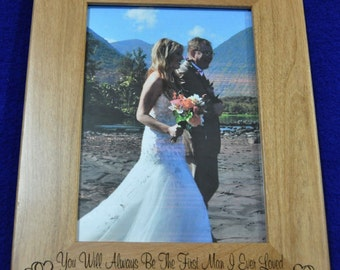 Father Of The Bride Gift ~ Gift For Dad ~ Birthday Gift For Dad ~ Father's Day Gift ~ Engraved Picture Frames ~ To Dad From Daughter ~ Frame