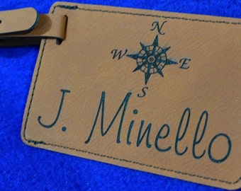 Fathers Day Gifts.  Gift For Traveler ~ Luggage Tag ~ Wedding Gift ~ Destination Wedding ~ Leather Tag ~ Travel Gifts ~ Travel Gifts ~ Tag